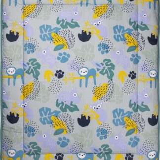 Boxkleed 80 x 100 Jungle Dusk Flower V600GSM - Groen